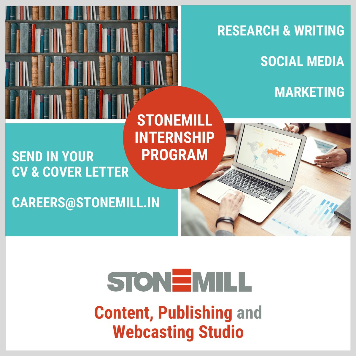 *Internship Alert*  Are you self motivated & can work under deadlines? Are you ready to kick start or re-start your #career?  Irrespective of your academic background, StoneMill has an opportunity for you!   Send your CV and cover letter to careers@stonemill.in  #internship #jobs