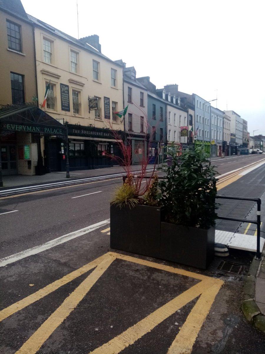 Replying to @GardenCityShane: Handsome new planters on MacCurtian Street @The_VQ_Cork.
