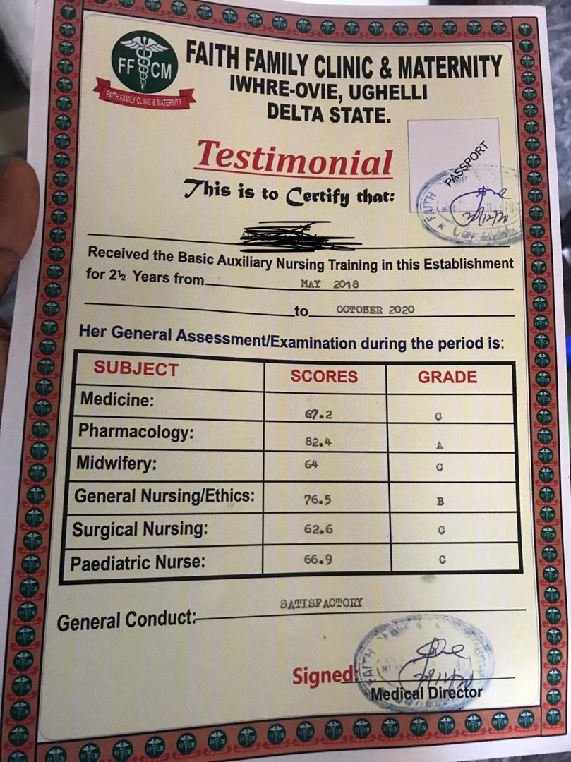 Just imagine what a doctor is doing in a clinic. I wonder if this doctor went through a medical school, cos if he does so he won't give such a certificate  #NMA2020  #MDCN #PCN #PCN2020  #Nursing  #NursePractitioner