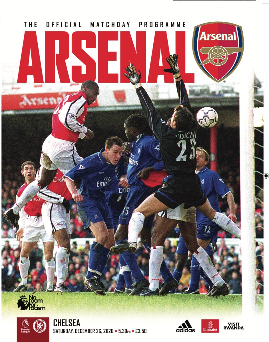 🚨 BOXING DAY PROGRAMME NOW AVAILABLE 🚨  🔙 Retro cover remembers the last time @Arsenal entertained @ChelseaFC  on Dec 26   ⌛️Order by 10am tomorrow (UK) for 1st class post tomo  🔴⚪️ Features @m8arteta @Aubameyang7 @RobHolding95 @emilesmithrowe