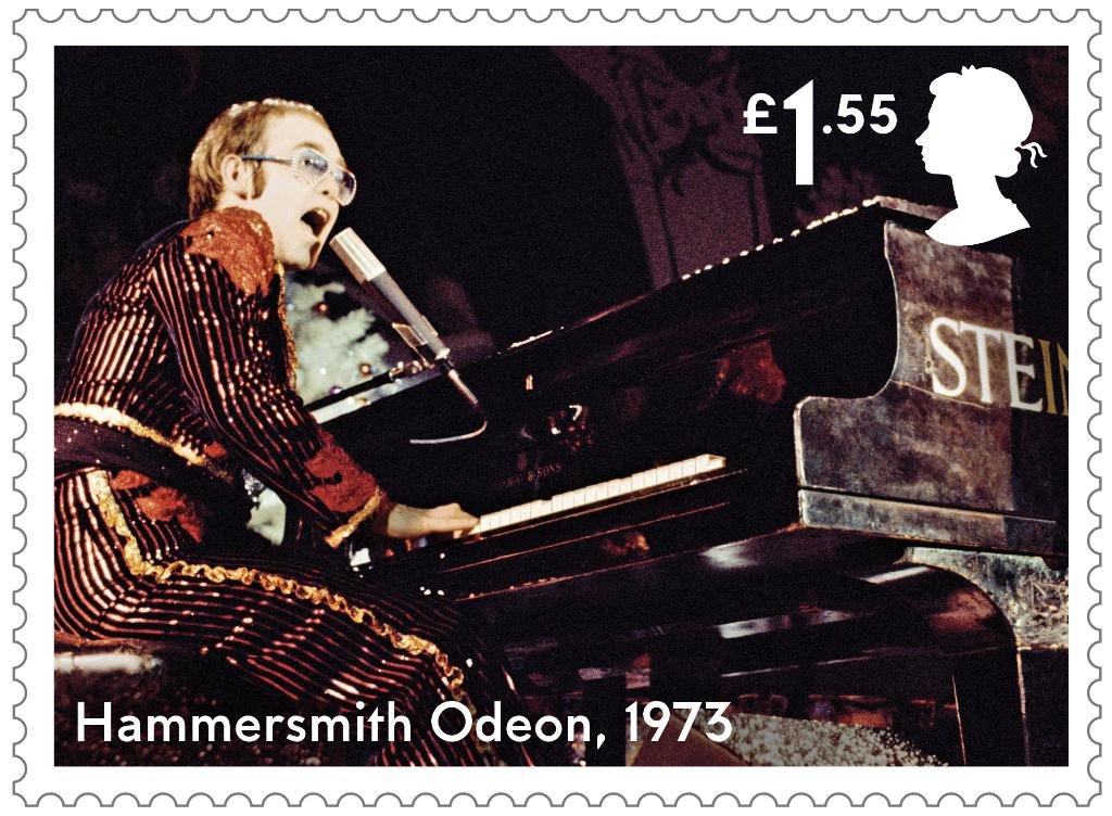 #EltonJohn's #Christmas shows at the Hammersmith Odeon are legendary, like the gig played #OnThisDay in 1973, immortalised on a stamp!   Explore the collection:   @eltonofficial