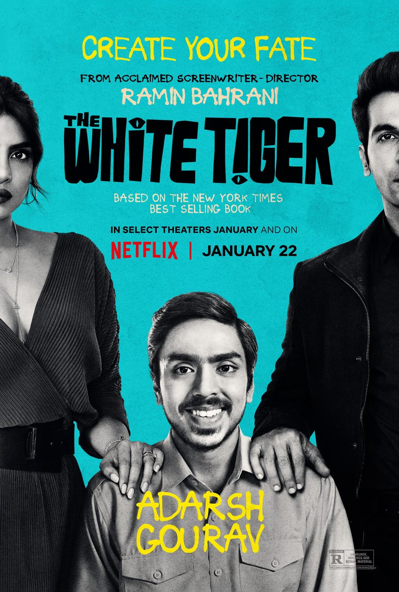 #TheWhiteTiger trailer out now! Comes to #Netflix globally Jan 22   (1/2)