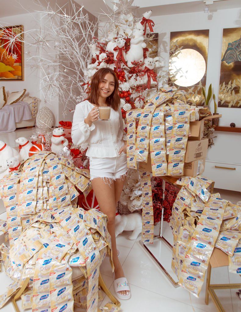 White Christmas in Manila? Why not! Level up your white coffee with San Mig Crema! 🤍 Share your photo enjoying White Christmas with Crema and use the official hashtag for a chance to win a year's worth of Crema products!   #LevelUpwithKathandSanMigCrema @sanmigcoffeeph