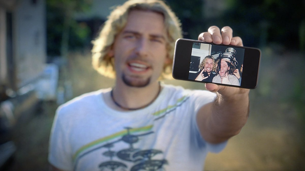 Look at your photographs.   Relive the memories that make you laugh: matching bow ties, noodle-like hair, selfies, and all.     #GooglePhotos #Nickelback