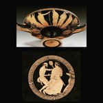 Image for the Tweet beginning: #Ancient Attic red-figure cup of