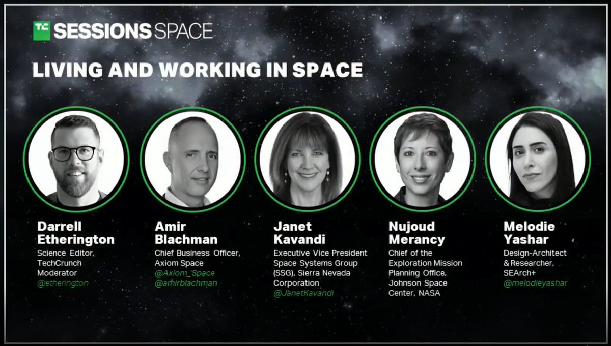 The @TechCrunch's video on Living and Working in Space is now available at the link below. @etherington @NASA @Axiom_Space @SierraNevCorp @JanetKavandi @nujoud @m 🚀👨‍🚀👩‍🚀