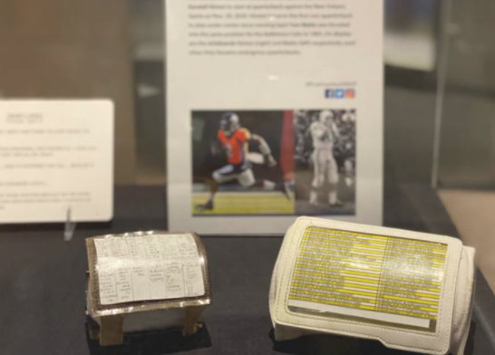 With all the bad luck the #Broncos experienced this season, the fact that @Kendall_Hinton2's wristband from the #NOvsDEN game is going in the @ProFootballHOF is making me smile so big right now.  Even if I still hate the NFL for that game. 🤣