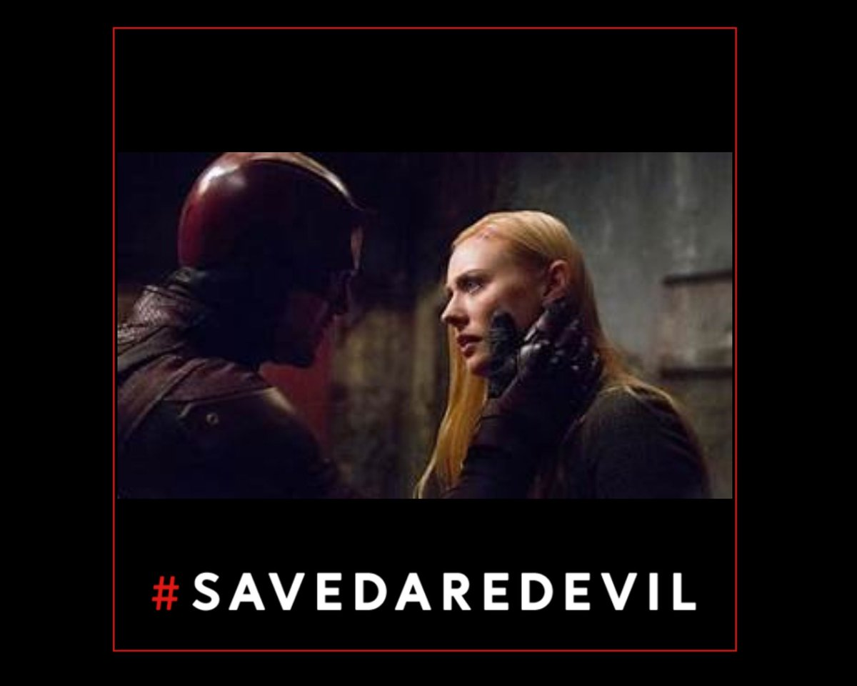 Say it with me.  #CharlieCoxIsDaredevil  Deborah Ann Woll is Karen Page.  #SaveDaredevil means bring the whole cast back.