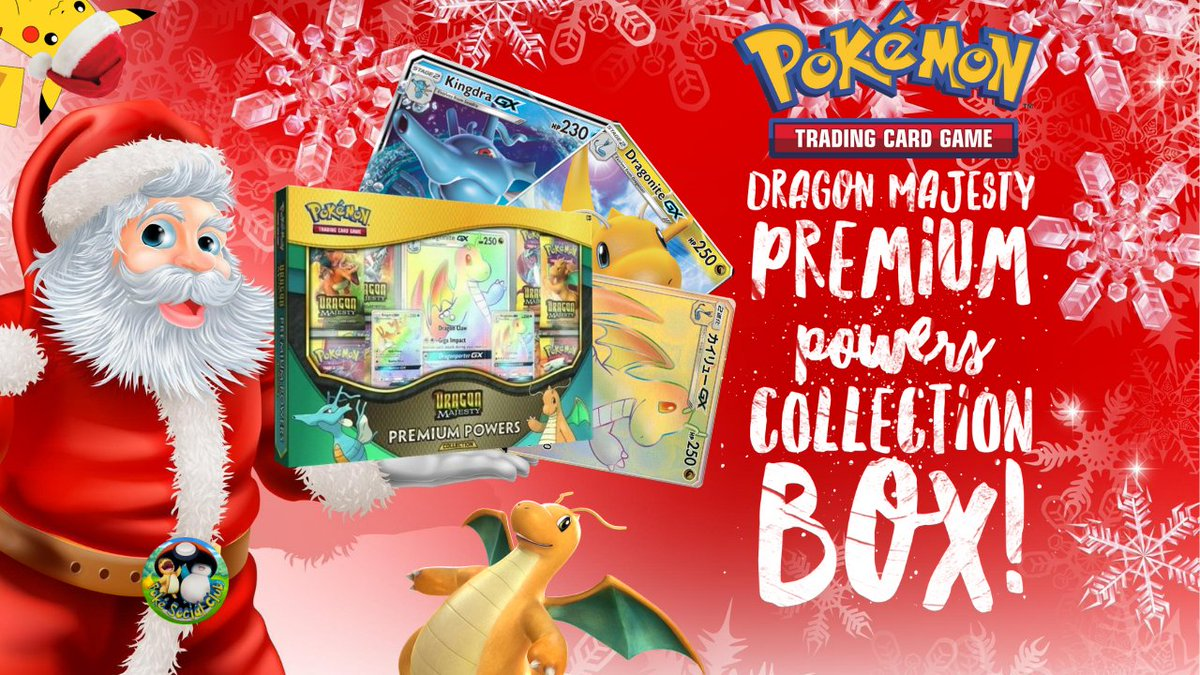 We love dragons so we're opening this #DragonMajesty premium powers box up for Christmas! Check out the new video on our channel now!  #Pokemon #PokemonTCG #dragons #dragon #PokemonCards #Charizard #dragonite #PokemonSwordShield