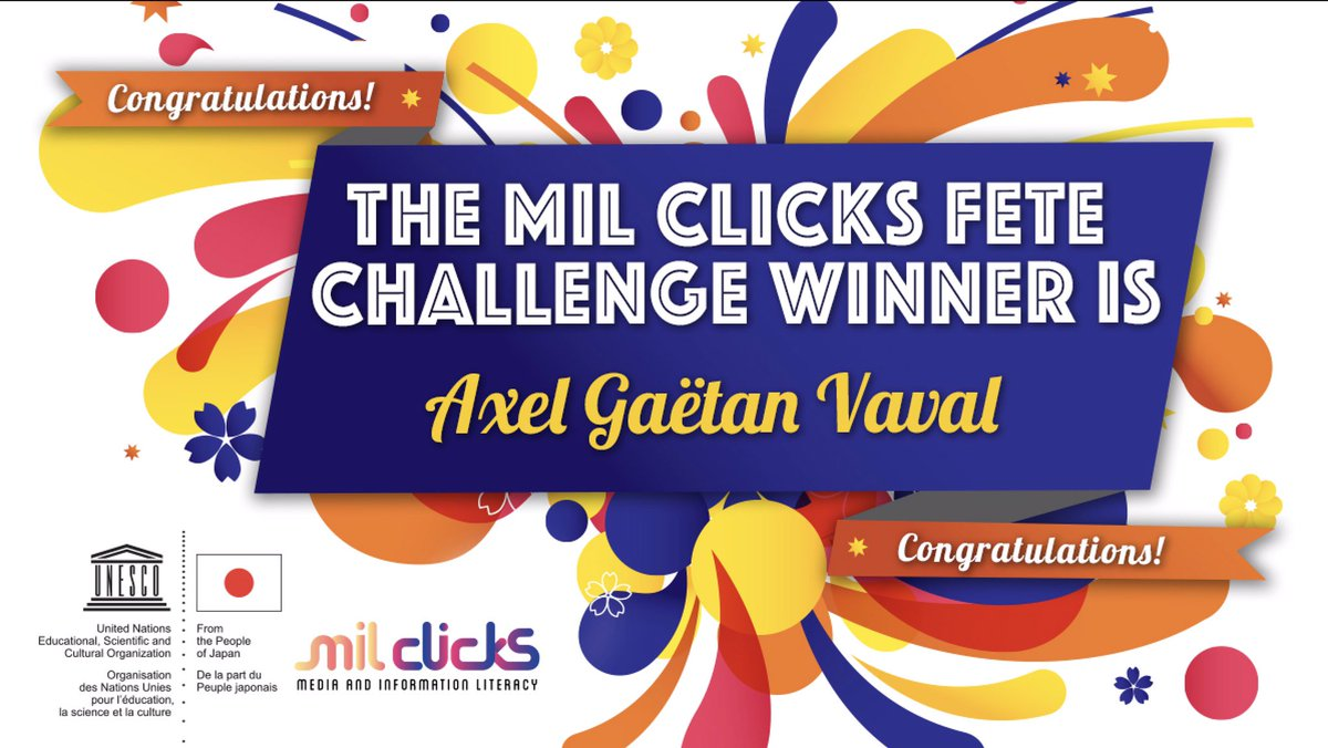 🎉 Congratulations to Axel Gaëtan Vaval (@axelvaval), the winner of the MIL CLICKS Fete Challenge.