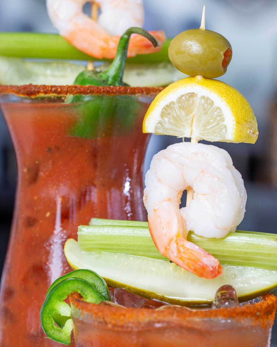 Tag the person buying you one of these this week! 🤤  Loaded Bloody Mary - Stoli & Ghost Tequila, premium bloody mary mix, shrimp, pickle, celery, olive and lemon.   #daiquirideck #tagus #bloodymary #openairdining #meetmeatthedeck #mysarasota #srq #lovefl #ghosttequila #stoli https://t.co/a0njuanBKm