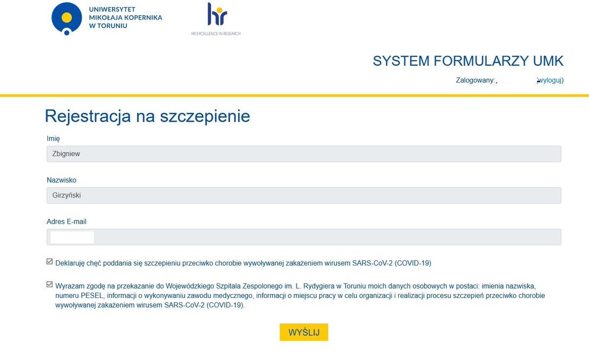 Podobnie jak inni wykładowcy UMK otrzymałem propozycję zarejestrowania się na szczepienie przeciw Covid Niezwłocznie to uczyniłem Mam nadzieję, że w ten sposób pomogę szybciej powrócić do normalnego trybu kształcenia na naszym Uniwersytecie. dr hab. Zbigniew Girzyński, prof. UMK https://t.co/qxrhtPnzR1