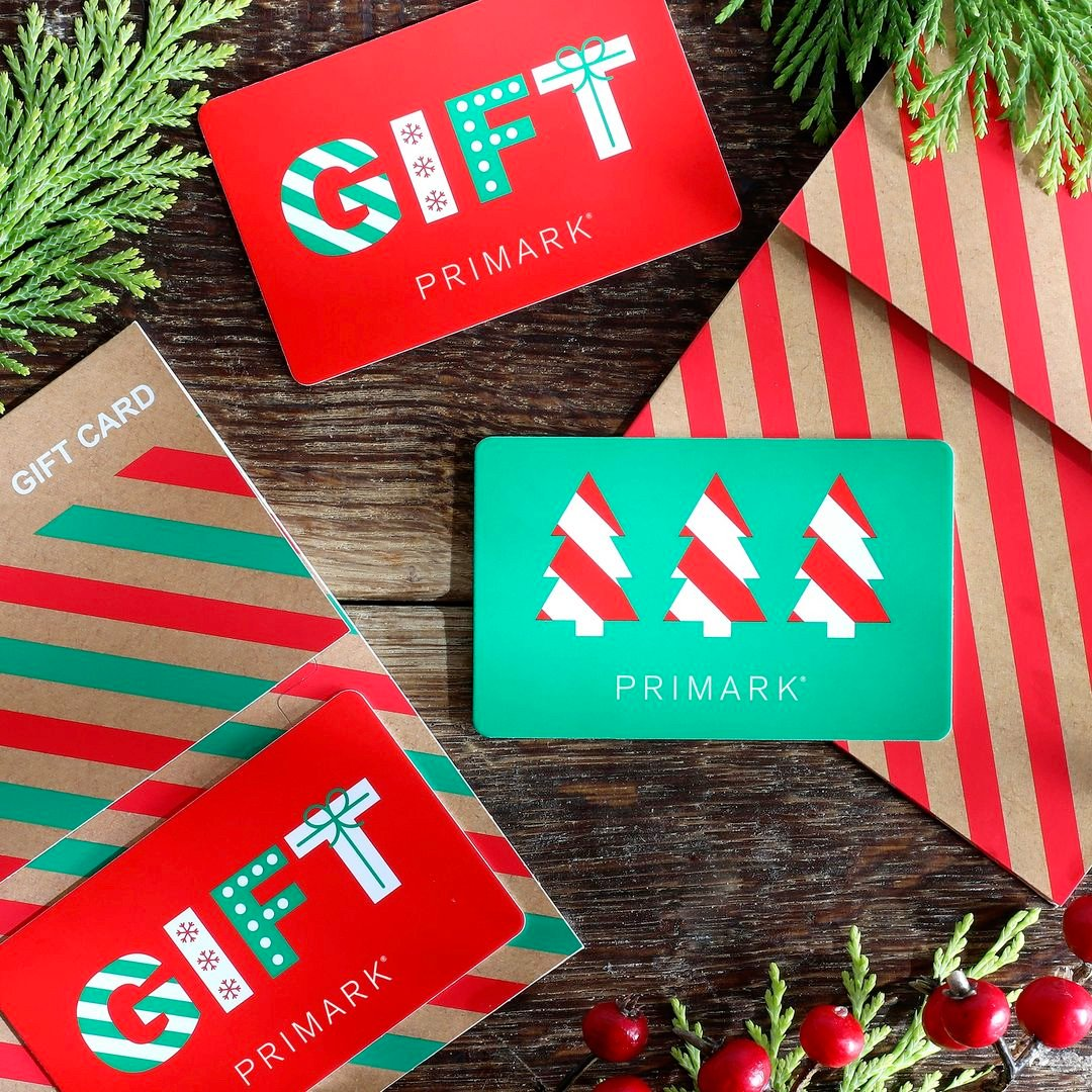 Tick off the Christmas list with ease with a Primark gift card available now in-store!