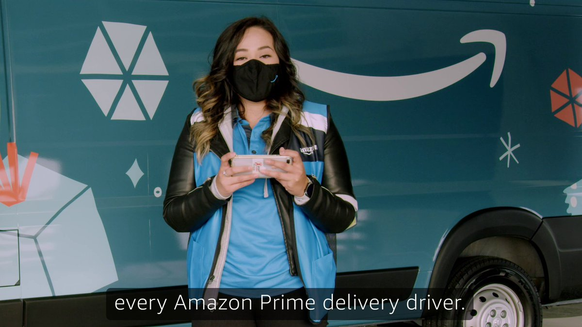 Presenting: real Amazon delivery drivers reading your tweets! Thanks for sharing joy and positivity this holiday season. 🤗💙