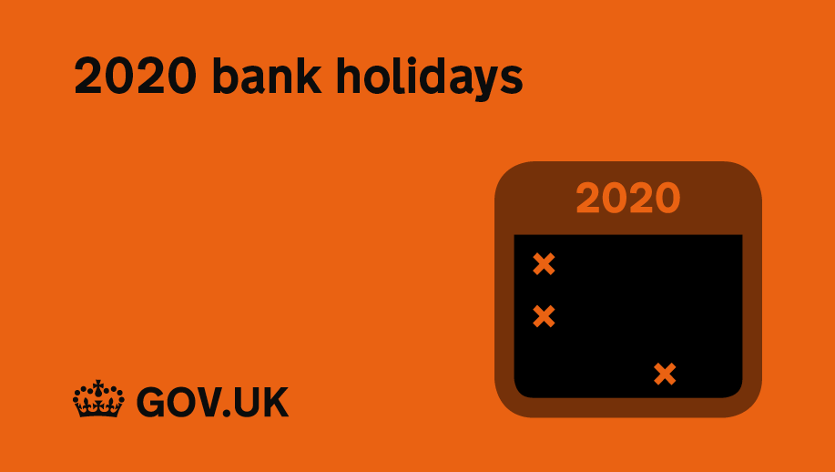 The next Bank Holiday in the UK is on 25 December 2020.  You can find all upcoming Bank Holidays here: