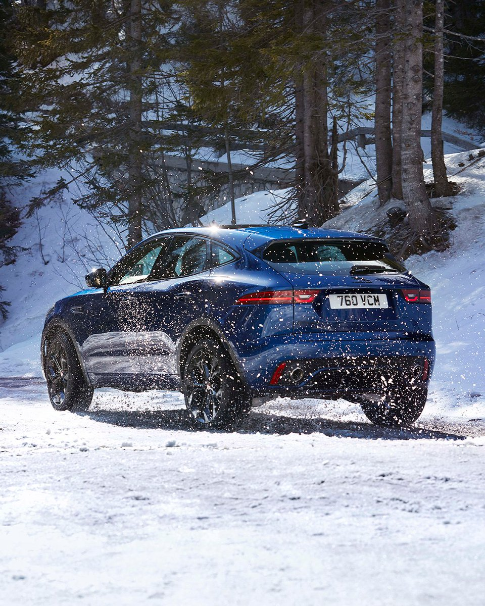 Leave the sledge behind.  Conquer the snow in the New Jaguar E-PACE, with our advanced All-Wheel Drive system: