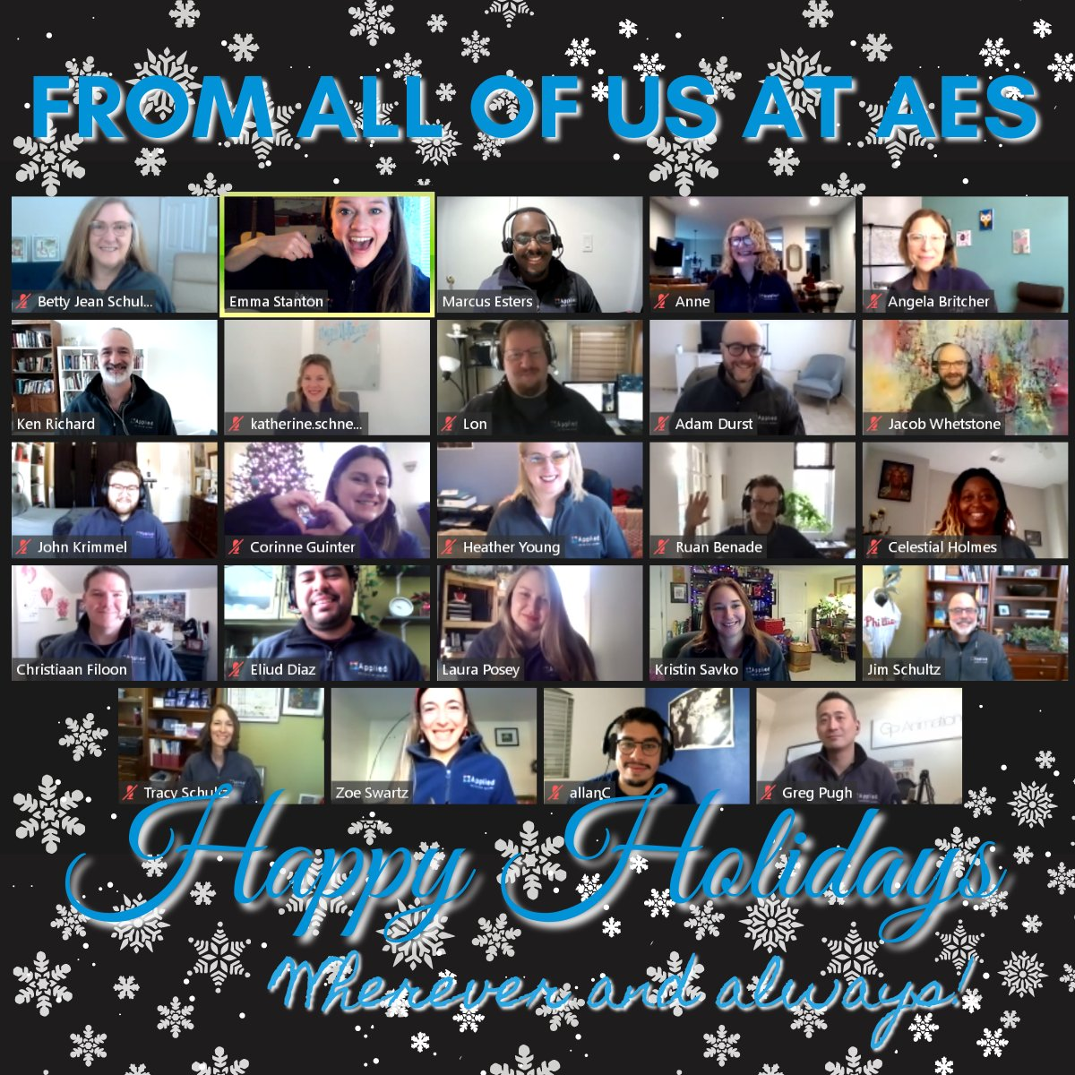 2020 is a different year in #education.  Thanks to all the #CareerTechEd and #Busedu  teachers and administrators' dedication and patience.  It's an honor to serve you each year.  Happy Holidays from @AppliedEduSys