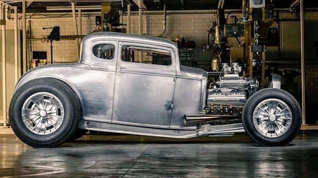 #Car 🚘 Awesome of the Day ⭐ ➡️ Silver Grey Metallic #Steampunk-ish ⚙️ #Ratrod #HotRod With Open Exhaust Pipes via @kmandei3 #SamaCars 🚗 ➡️ View More Selections 👉 https://t.co/Kugls3IJqU