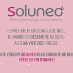 Image for the Tweet beginning: [ACTU SOLUNEO🎄]  SOLUNEO ferme ses portes