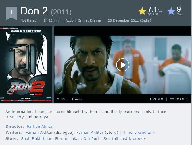 #9YearsOfDon2@ The car chase sequence is one of the best ones I've seen in an Indian movie till date. The plot is full of twists and turns, and a lot of that makes sense now. This is one of the best action thriller movies by Bollywood in the last few years and is a must watch.