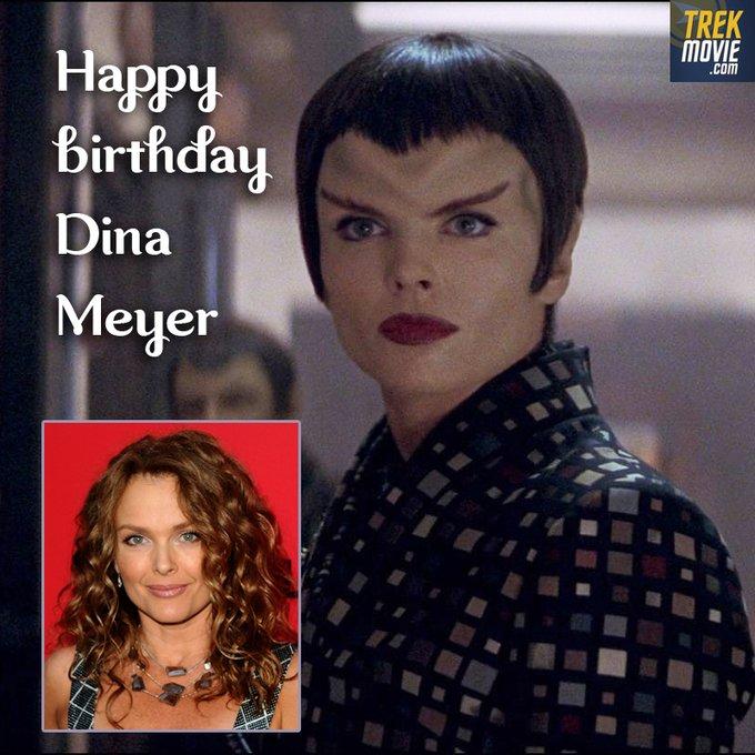Happy birthday to Dina Meyer, who played Commander Donatra in Nemesis.