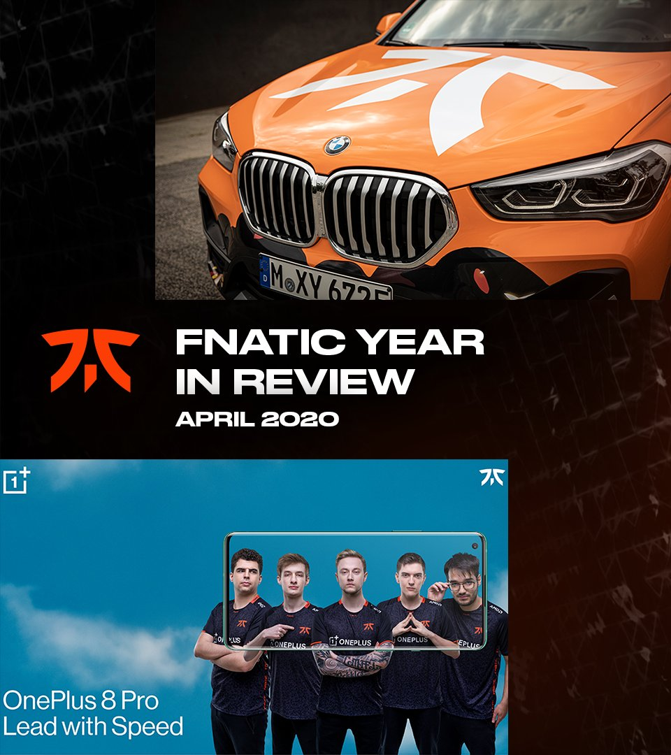 Fnatic - Fnatic is made of millions of people. We feel blessed to have each of you watch as we compete, win, lose, knife fools.  With @BMWEsports & @OnePlus, we hope you see we try to partner with those who represent this incredible community.  What's your April 2020 memory? #Fnatic2020