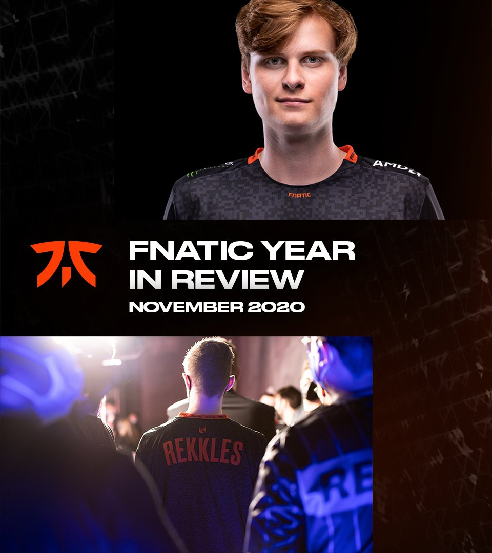 Fnatic - In November, we saw legends leave and future legends arrive.  This year above all, we are constantly reminded to never take what you've experienced together for granted. Every memory can be blessed because every memory is human.  What's your November 2020 memory? #Fnatic2020
