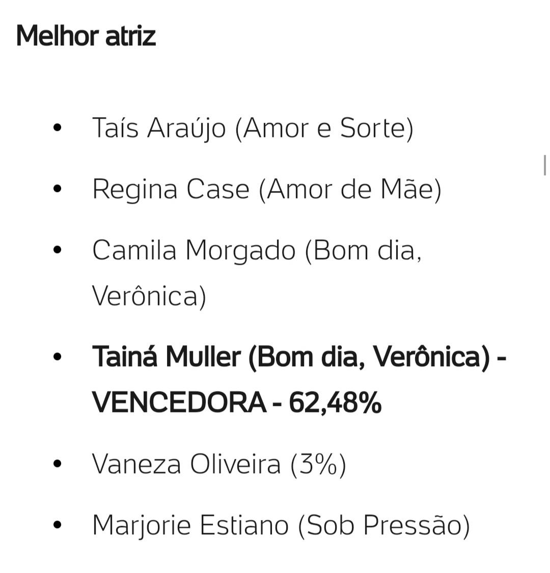 @tainamuller #BomDiaVeronica #BomDiaVerônica 🎉🎉🎉🎉 #SplashAwards #SplashAwards2020 #tainamuller