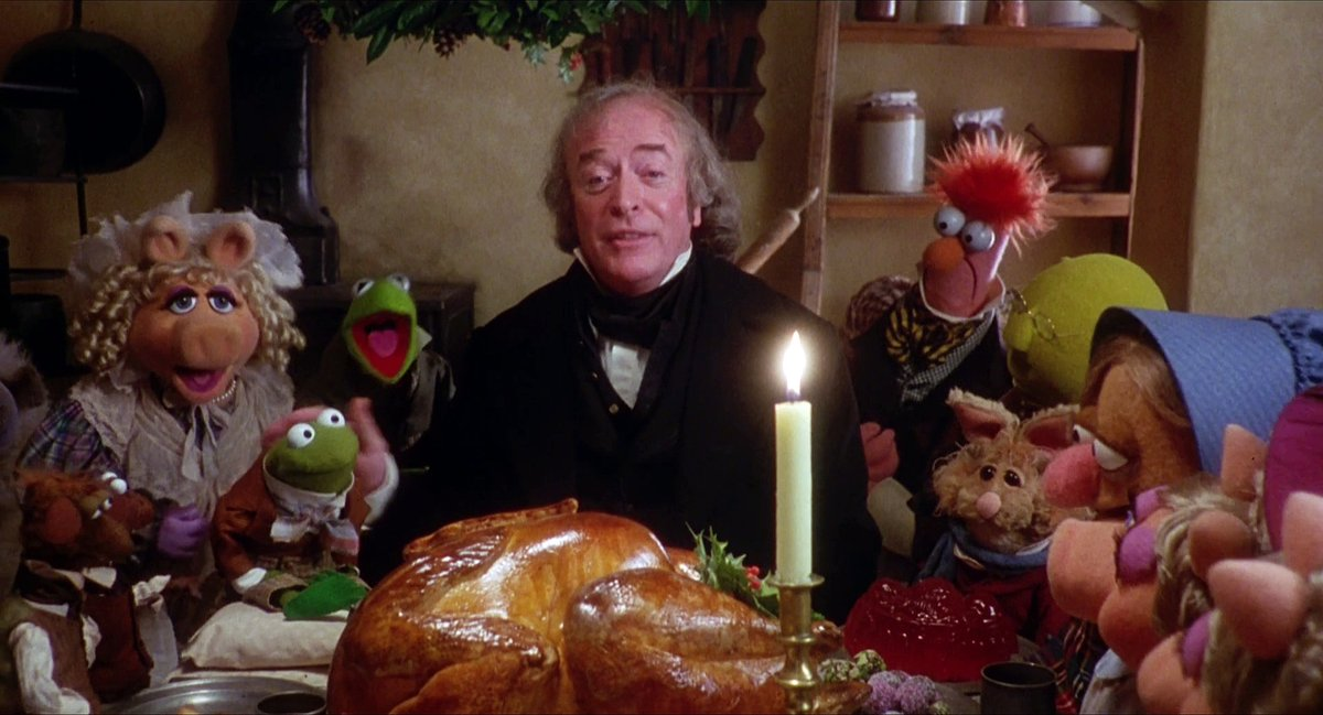 "A prize turkey twice the size of Tiny Tim? In the Dickens holiday classic ""A Christmas Carol,"" Ebenezer Scrooge gifted a turkey to the Cratchit family. Some say this helped introduce turkey as a staple on many Christmas tables. #12DaysOfTurkey"