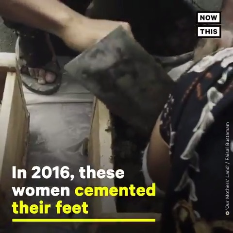 These Indigenous Indonesian women cemented their feet to protest a cement factory that would damage sacred lands. Their story is now being told in a new documentary
