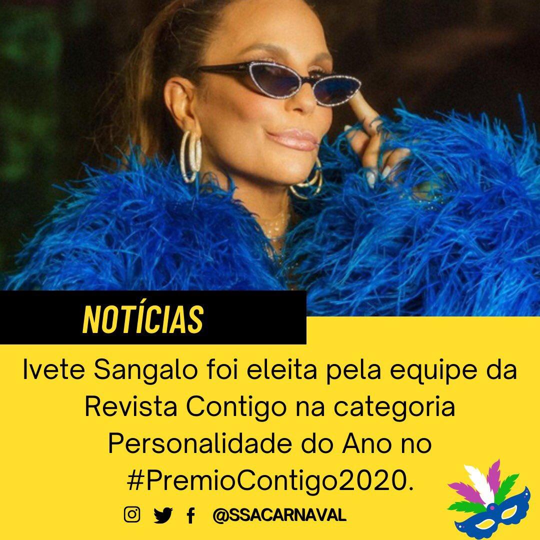 Ivete sangalo foi eleita pela equipe da Revista Contigo na categoria Personalidade do Ano no #PremioContigo2020.