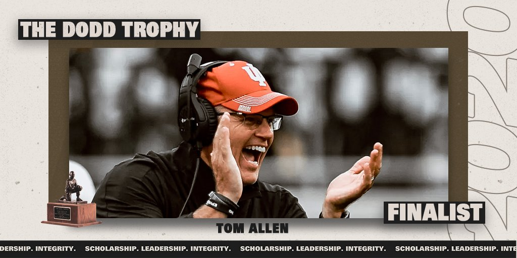Fan Voting is now open for the 2020 Dodd Trophy 🏆 RT to cast your vote for @CoachAllenIU as the Dodd Trophy Coach of the Year!   @IndianaFootball   #IUFB