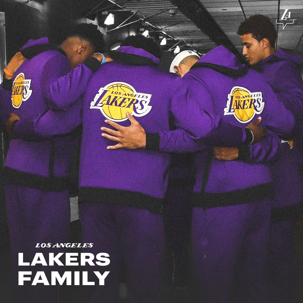 From the players hitting the hardwood to the millions cheering around the globe:  We are #LakersFamily.