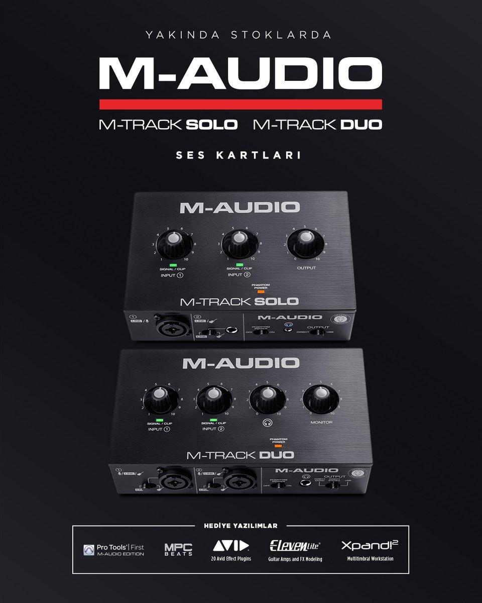 🆕 Podcast, canlı yayın ve prodüksiyon dünyasına kolayca giriş yapabilmeniz için tasarlanan @M_Audio_ M-Track Solo & Duo ses kartları çok yakında stoklarımızda 😊 Detaylı bilgi için 👉  🔗 #Compel #MAudio