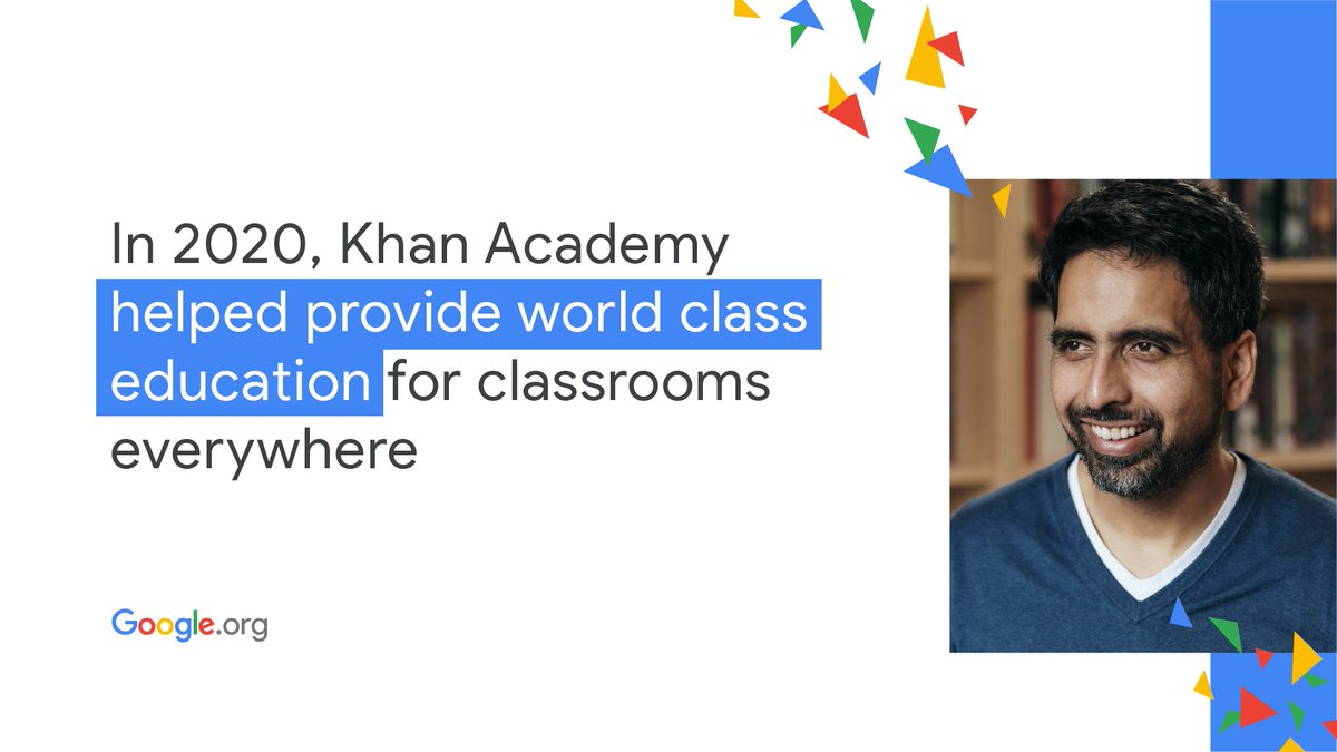 This year has been full of unexpected turns. We're spotlighting some of the powerful stories we've shared during 2020 in a #YearInReview. First up, read how @khanacademy used their #GoogleOrg grant to keep learning going through #COVID19: