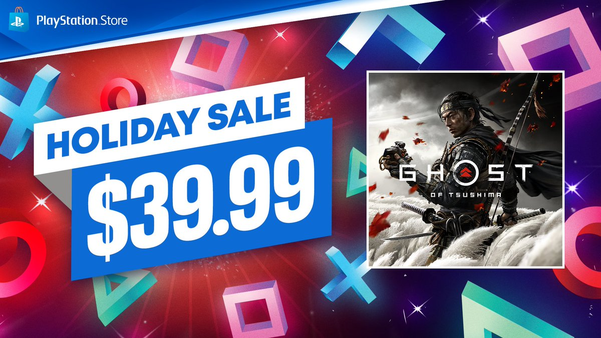 Haven't experienced Jin's journey yet, or looking to join your friends in Ghost of Tsushima: Legends? #GhostOfTsushima is just $39.99 until January 8 as part of PlayStation Store's Holiday Sale: