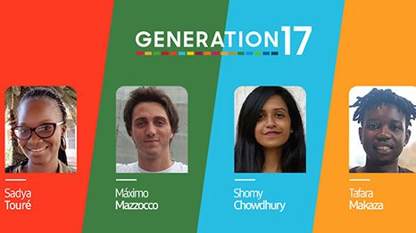 Sadya, Máximo Shomy & Tafara young leaders of #Generation17 - @UNDP's new initiative with @SamsungMobile -  share how they make their voices heard in a digital age to raise awareness about some of the world's most urgent problems. Here is more: