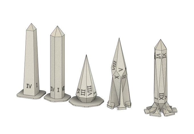 2 pic. I've uploaded the #3DPrinting files for those #TabletopGaming dice, including both supported and