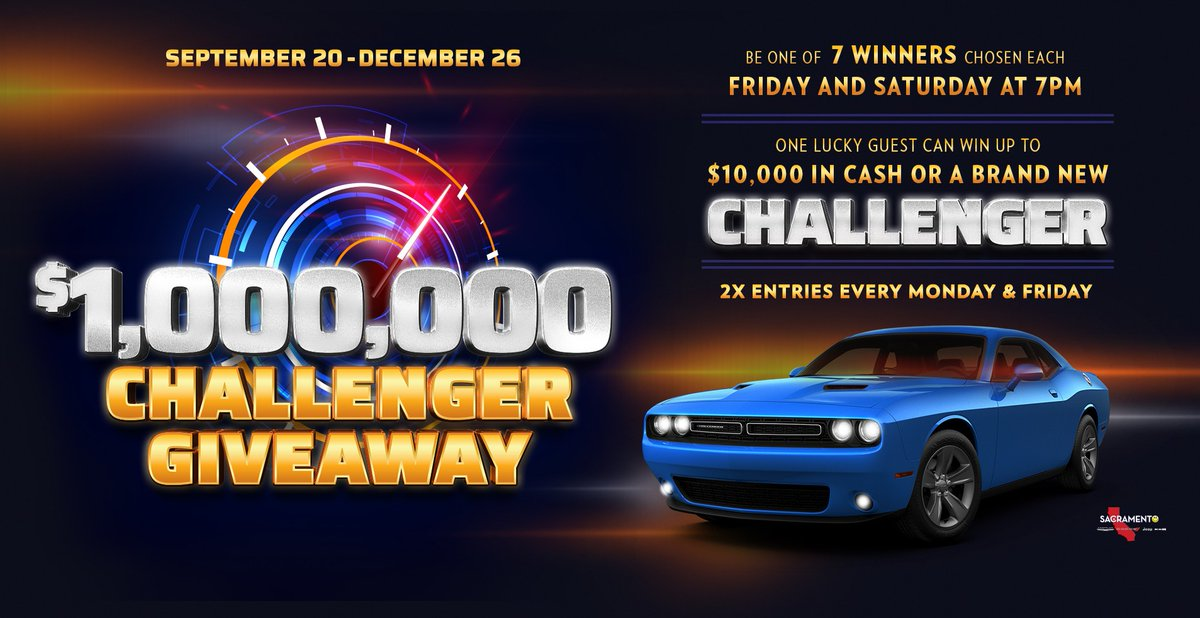 Satisfy your need for speed! Play our Challenger Giveaway before it hits the road for good.  Learn more: