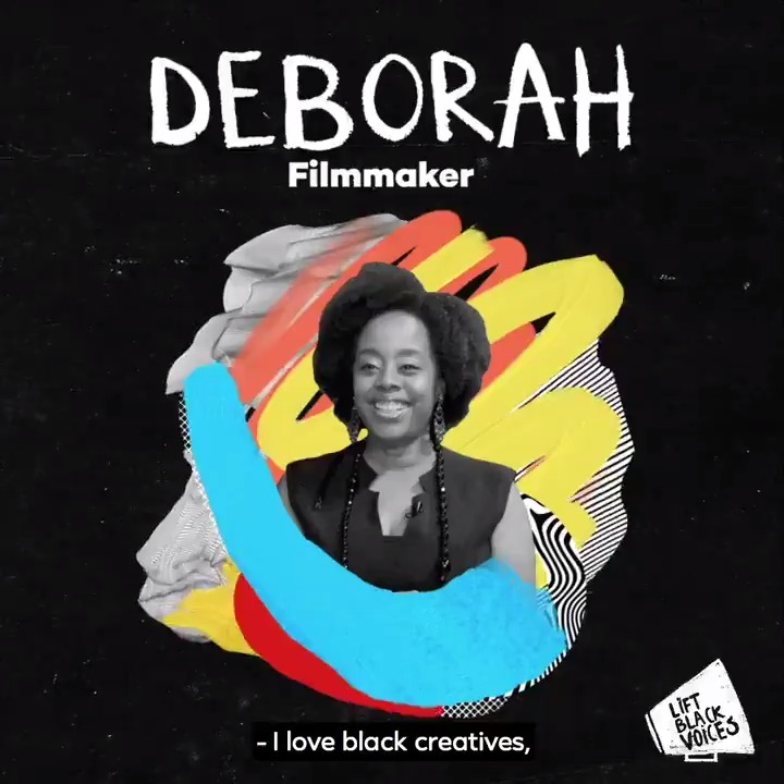 """Our stories save us figuratively and literally. Everyone has the power to tell a story."" Meet Deborah, filmmaker and motivational speaker, as she discusses artists' contributions to society and how stories change perspectives. #LiftBlackVoices"