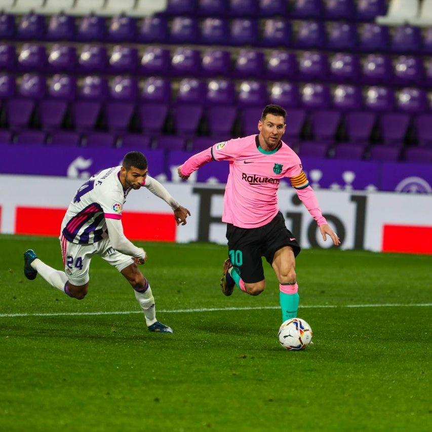 Messi against Valladolid in La Liga
