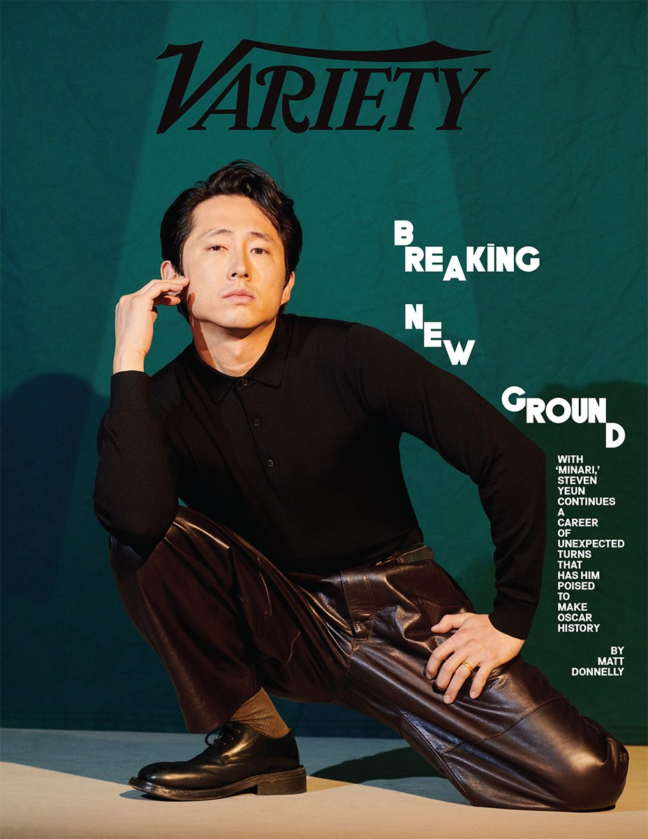 Inside this week's Variety cover story: Steven Yeun on the honesty of #Minari and his eclectic career