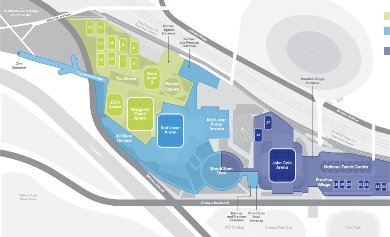 Plan de l'Open Australie, protocole sanitaire