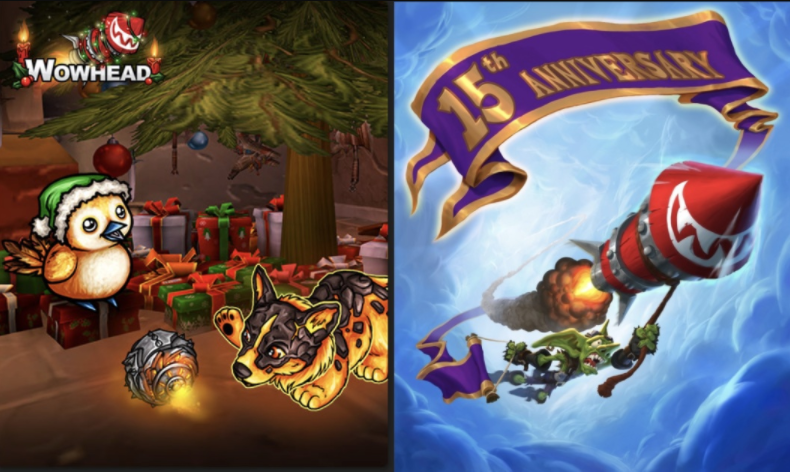 It's Winter Veil in #Warcraft and it's also Wowhead's 15th Anniversary!  We've got our biggest giveaway EVER with 174 prizes: @BlueMicrophones, @secretlabchairs, a computer from @MwaveAu/@Blizzard_ANZ and more!  Like/RT and visit https://t.co/d1iRQ9VML1 for more ways to enter! https://t.co/ZecyDgP4y5