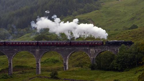 """Esta es una similitud entre """"Wonder"""" y """"Harry Potter"""": La representación del expreso de Hogwarts. Muchos experimentamos felicidad, alegría y sorpresa al verlo, creo que era lo quería el autor, esa reacción de sorpresa de como cuando eres niñ@. #WONDERTHEEXPERIENCE 🌊🚂🧡🖤"""