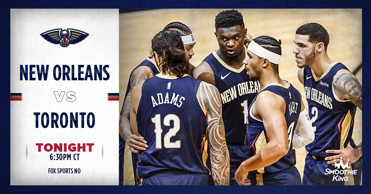 LET'S HOOP 🔥  Pelicans basketball returns TONIGHT! 👏  🏀: at Raptors 🕟: 6:30 pm CT 📺: @FOXSportsNOLA  📻: @ESPNRadioNOLA   #WontBowDown https://t.co/w9Wo3X0gYK