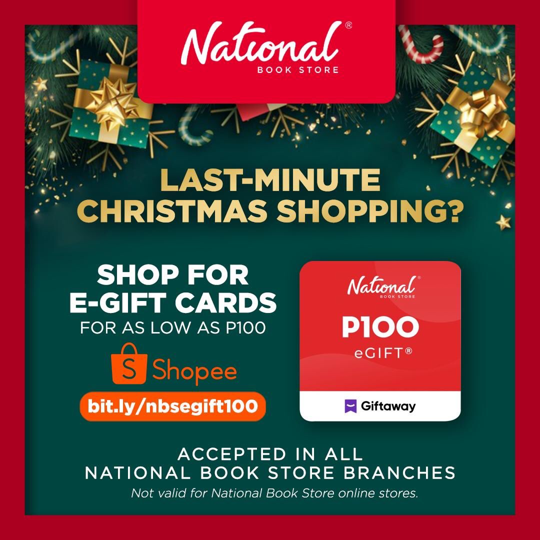 Here's an affordable and practical last-minute gift idea for anyone you love: NBS e-Gift Cards!  Shop now: ₱100 -  ₱300 -  ₱500 -  ₱1,000 -   #Giftaway #NBSgifts #NBSeveryday
