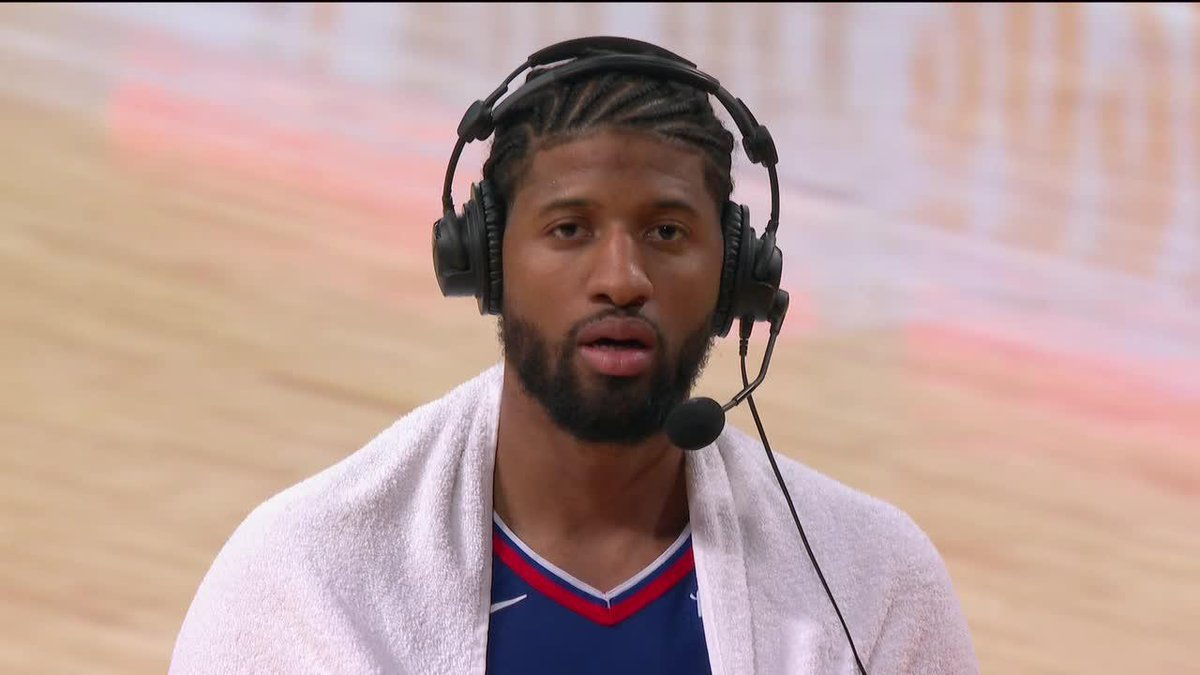 PG joined @NBAonTNT after dropping 33 PTS vs. the Lakers on opening night 🔥 https://t.co/LQeWStbmoi