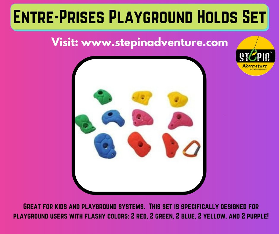 Great for kids and playground systems.  https://t.co/Ko6qdUPqSW #playgroundholds #climbing_is_my_passion #climbing_pictures_of_instagram #boulder #climbingnation #routesettinglife #routesetting #routesetter #routesettersofinstagram #climbingtraining #climbers #climbingholds https://t.co/2XXQ5cW874