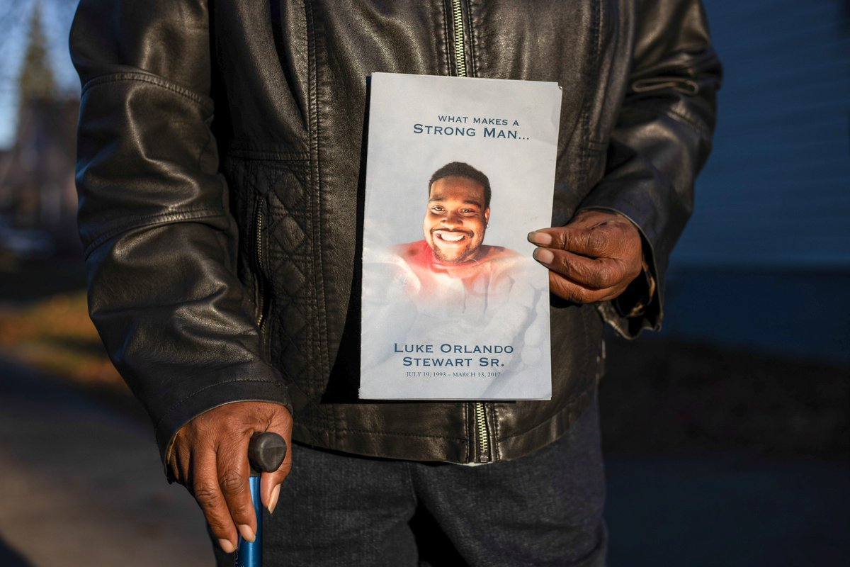 "Luke Stewart was sleeping in his parked car, then cops entered it and shot him. When his family sued, courts protected the officers. His mother, Mary, said: ""Luke wasn't doing anything illegal, and now he's dead … It was racism. It was police brutality."""